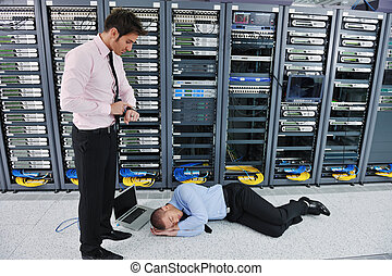 system fail situation in network server room