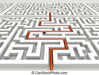 In the labyrinth - business concept