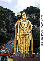 Batu caves are a hindu temple on the outskirts of Kuala...