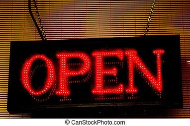"""""""open"""", ビジネス, 印"""