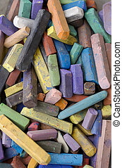 Colorful chalks - Photo of Colorful chalks background