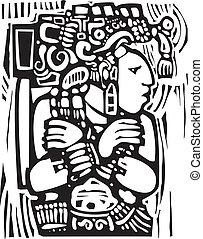 Mayan Woodcut Style 3