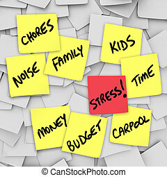Stress Burdens Sticky Notes Reminders for Stressful Life - A...