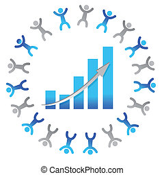 people business graph concept