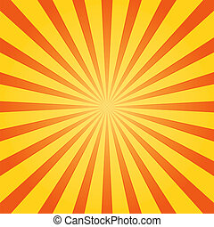 Orange and Yellow Shine - Striped Background with Orange and...