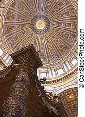 St. Peters' Dome and Baldachin - The dome of St. Peter's...