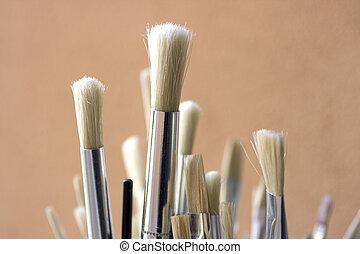 Paintbrushes - A set of new bristle paintbrushes