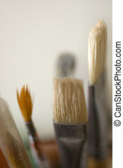 Paintbrushes - A lot of various paintbrushes