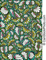 Stylized bright natural pattern