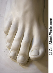 Foot, statue - Detail of a foot sculpture