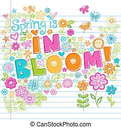 Spring Garden Flower Vector Set - Hand-Drawn Spring is in...