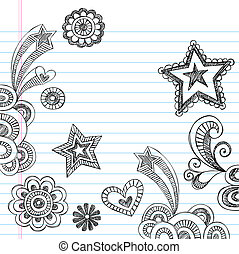 Sketchy Back to School Doodles Set - Hand-Drawn Back to...