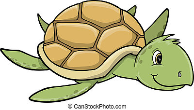 Sea Turtle Vector Art Illustration art