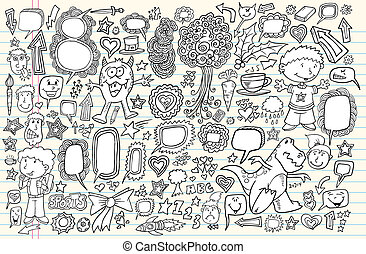 Doodle Vector Illustration Set