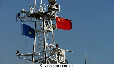 Passenger ships mast.tanker,yacht,boat,Chinese national...