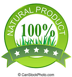 Label for natural products Vector illustration