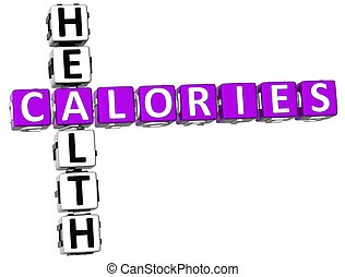 3D Calories Healt Crossword