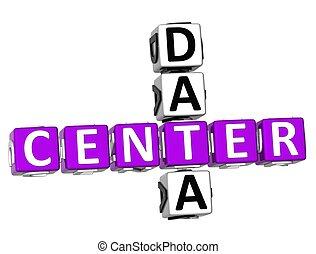3D Center Data Crossword on white background