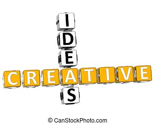 3D Creative Ideas Crossword
