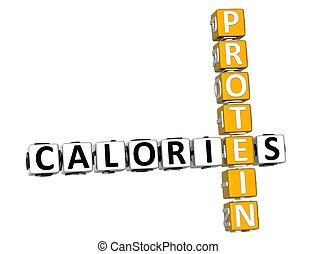 3D Calories Protein Crossword
