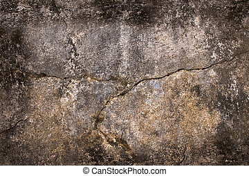 Grunge Wall with Horizontal Crack and Natural Frame