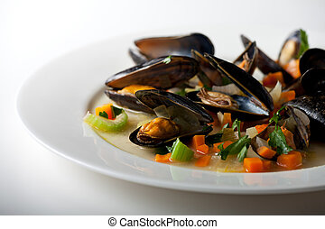 mussels - cooked mussels