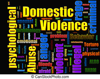 Domestic Violence Abuse Related Text Design Element as...