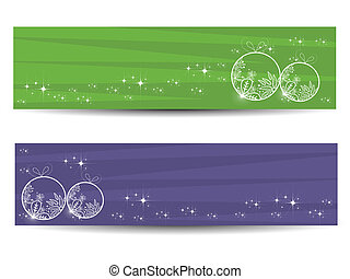 set of two artistic banner - Background with set of two...