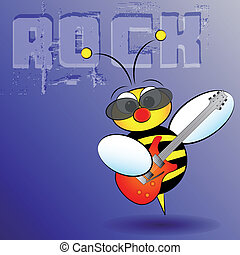 Bee rocker - Kid Illustration