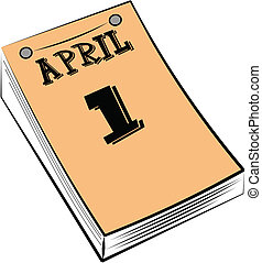 april fools day calendar - calendar pad for April fools day...