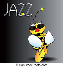 Jazz bee - Kid Illustration