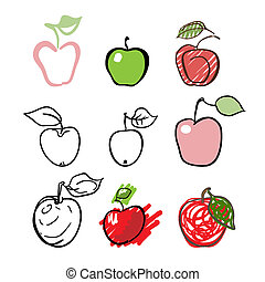 apple fruit designs.