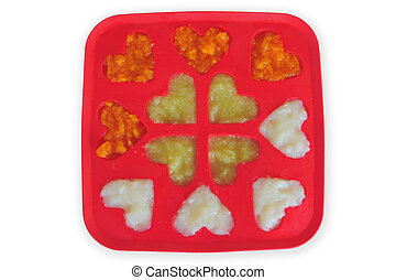 baby food freezer - Pureed Baby Food in an Ice Cube Tray