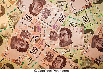 pesos bills backround - mexican pesos bills backround