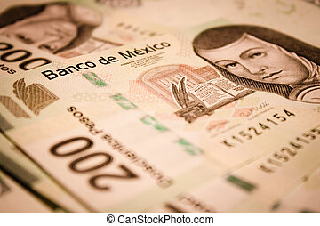 bills backround - mexican pesos bills backround