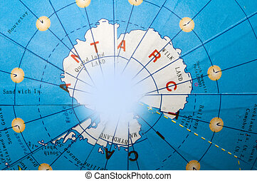 Antarctica of the globe.