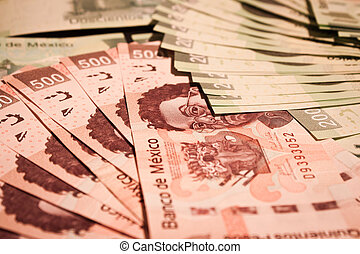 mexican pesos backround - mexican pesos bills backround