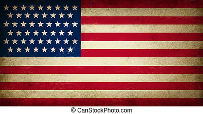 Grunge USA Flag as an old vintage American symbol of...