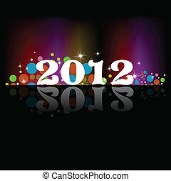 2012 New Year celebration background for cover, Flayer or...