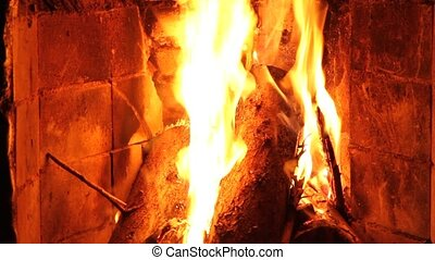 Fireplace - A Fireplace closeup