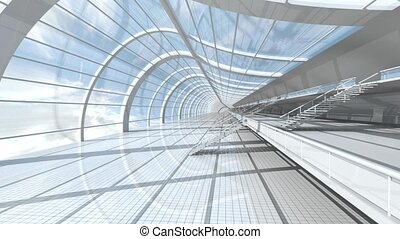 Airport Architecture - 3D rendered animation.