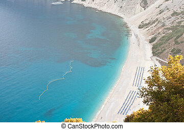 Myrtos beach, Kefalonia - View of Myrtos beach, Kefalonia -...