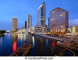 Downtown Tampa, Florida along the Hillsborough River