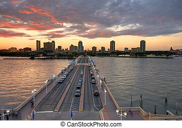 St Petersburg Florida - Skyline of St Petersburg, Florida...