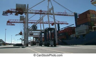 Port Facility Tauranga - Port Facility with gantry cranes...