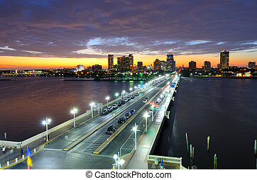 St. Petersburg Florida - Skyline of St. Petersburg, Florida...