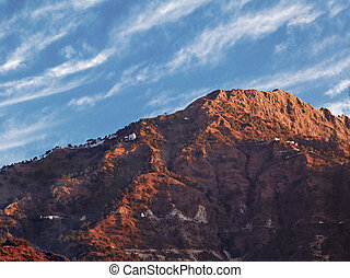 Dawn on Vaishnoo Devi Himalayas Katra - Landscape of dawn...