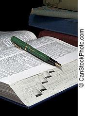 Fountain Pen on Dictionary