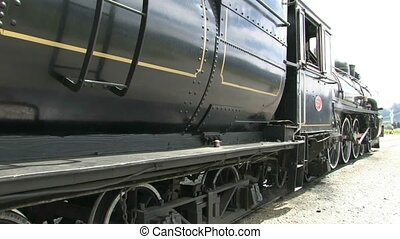steam Train side shot - Steam train stationary at Fairlight...