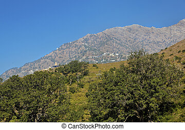 Viashno Devi Trikuta mountain from Katra Heliport -...